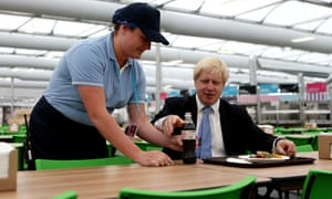 Boris Johnson visits the Olympic Park and Olympic Village on 12 July 2012.