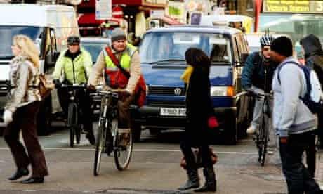 bikes in London traffic