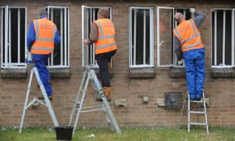 Offenders work on the community payback scheme
