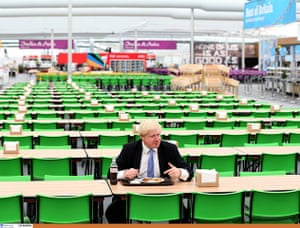 Olympic Village: Boris Johnson trys the food at the athletics main dining area