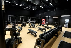 Olympic Village: The olympic village gym