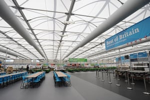 Olympic Village: The main dining area