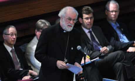The Archbishop of Canterbury, Rowan Williams, addressing the General Synod