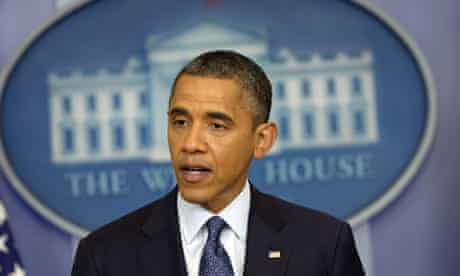 US President Barack Obama speaks to the