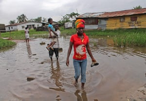 A Longer View - Flooding: Heavy rainfall casing floods in West Africa