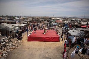 Lucha Libre, Mexico: Fans watch Mexican Lucha Libre wrestlers on the outskirts of Mexico City