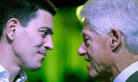 David Miliband and Bill Clinton