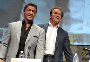 """Comic-con: Stallone and Schwarzenegger attend """"The Expendables"""" Panel"""