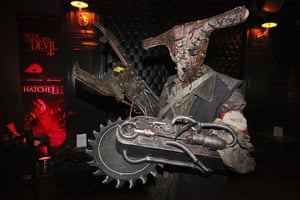 Comic-con: Zombot character celebrates at the Fear Net and Resident Evil Party