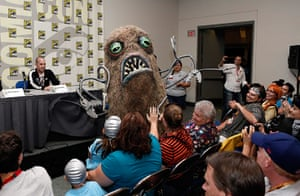 """Comic-con: The Hairy Tentacle Monster at """"The Aquabats! Super Show!"""" panel"""