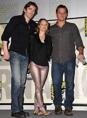 "Comic-con: Sharlto Copley, Jodie Foster, and Matt Damon at Sony's ""XXX"" panel"