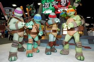 Comic-con: The Teenage Mutant Ninja Turtles attend Nickelodeon at Comic-Con