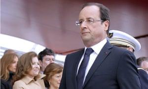 François Hollande and Valérie Trierweiler on Bastille Day.