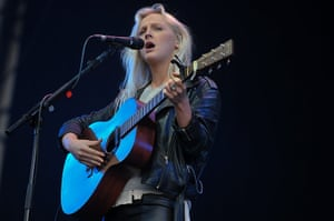 Latitude: Laura Marling performs on the main 'Obelisk Arena' stage on Saturday