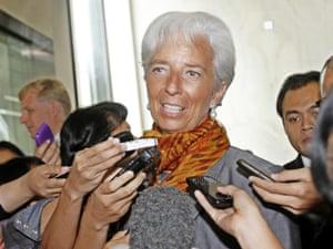 International Monetary Fund (IMF) Managing Director Christine Lagarde.