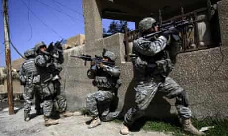 US soldiers during the surge