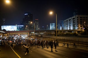 Tel Aviv protests: A crowd of around 2,000 activists demonstrated on Sunday