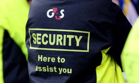 G4S security staff