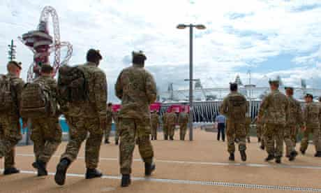 Armed forces at Olympic Park