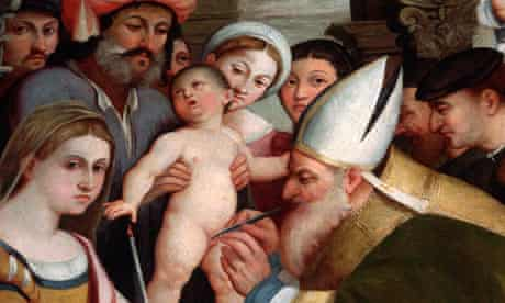 Detail of Circumcision of Jesus Christ by Pellegrino da San Daniele