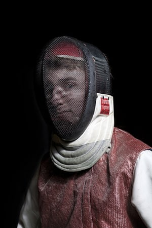 RPS print exhibition: Fencer. This portrait was part of a series I shot at a Fencing Club