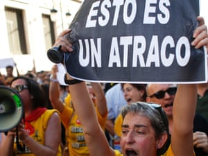 Anti-austerity protests in Madrid.