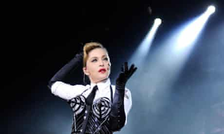 Madonna performs during her MDNA tour at Hyde Park, London.