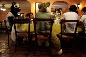 Furros Nuevo Leon: People dressed as wolves celebrate their friend's birthday