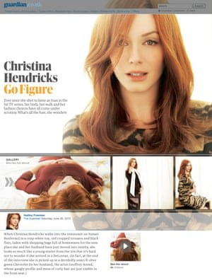 A design concept featuring Mad Men's Christina Hendricks, demonstrating a much stronger use of imagery