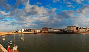 Margate torch relay: A general view across the bay at Margate, Kent