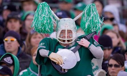 A Saskatchewan Roughriders fan