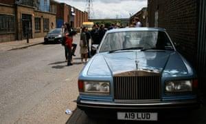 Car in London street