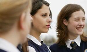 Teenage schoolgirls