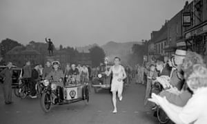 1948 Olympic torch relay in Westerham