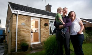 Emily and Dave Havercroft bought their first home with financial help from Emily's father