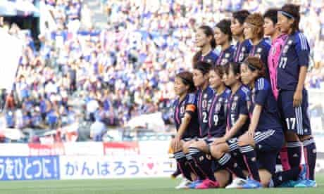 The Japanese women's football team had to fly to the Olympic Games in economy class
