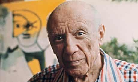 Pablo Picasso in 1971, painter of Guernica