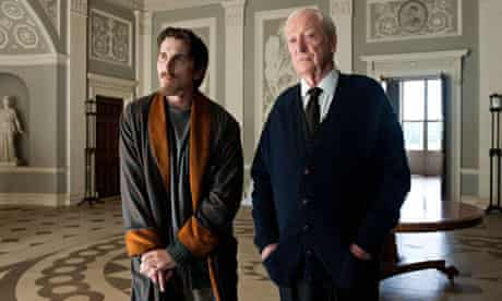 Christian Bale and Michael Caine Dark Knight Rises