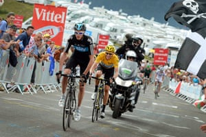 tour stage 17: Team Sky's Chris Froome and Bradley Wiggins