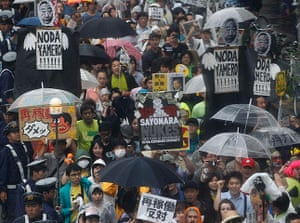 Japan nuclear protests: Protesters take part in an anti-nuclear demonstration