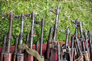 Kenya gun violence: Collections of guns handed over to the police by local communities