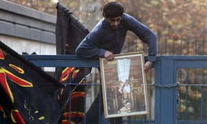 Iranian students protesters stormed the British embassy in Tehran
