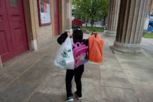 Foodbank gallery: 2 Child with shopping bags