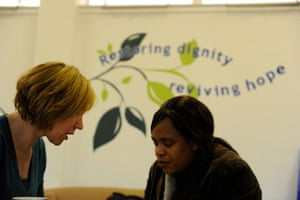 Foodbank gallery: 4 Woman helped at foodbank