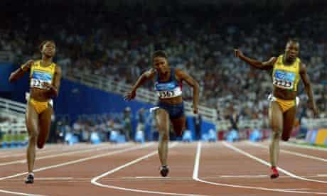 Womens 100m Finals, Athens 2004