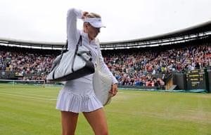 Wimbo Day 7: Dejected Maria Sharapova at Wimbledon 2012