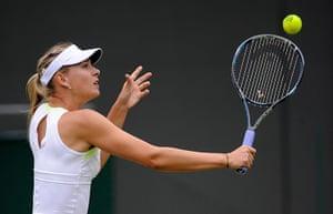 Wimbo Day 7 part 2: Maria Sharapova volleys