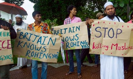 Burma's Rohingya refugee protest in Malaysia