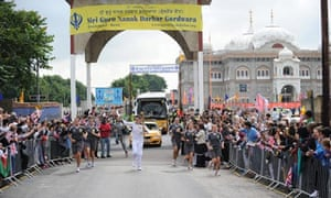 The Olympic torch in Gravesend on 20 July 2012.