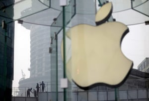 Picture desk live: A building near an Apple Store in Shanghai